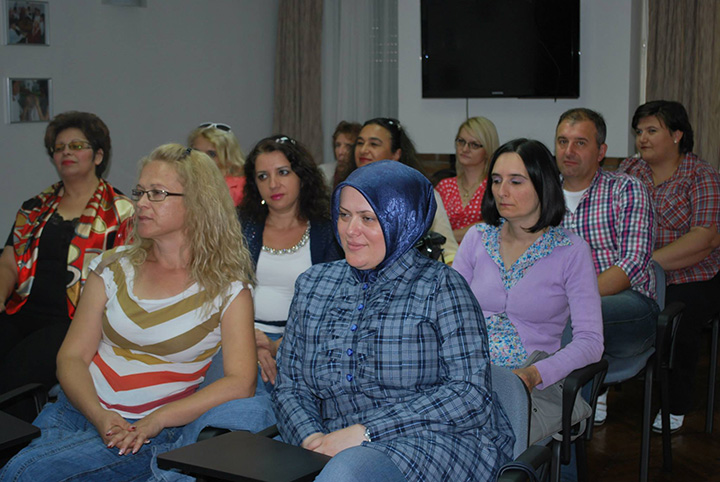 Workshop with the second group of teachers- participants at the trainings for NMIE